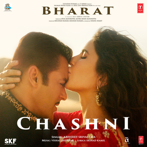 """Bharat Song Chashni Listen & Download: Listen Bharat Movie New Song """"Chashni"""". This song was sung by Abhijeet Srivastava. Music was given by Vishal-Shekhar. Written by Irshad Kamil. Song was released on 01 May 2019 under T-Series Video cast by Salman Khan & Katrina Kaif."""