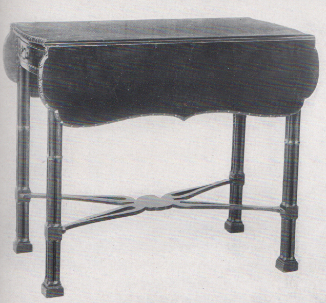 drop leaf table in a gothic style