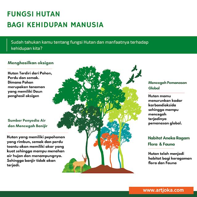 Infografis fungsi hutan