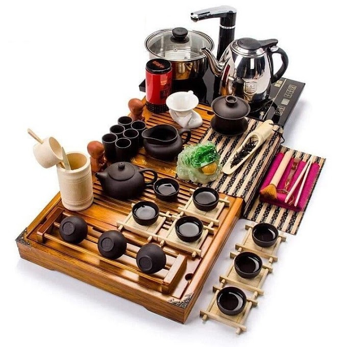 Bàn trà điện thông minh bếp đôi tự động phong cách Nhật