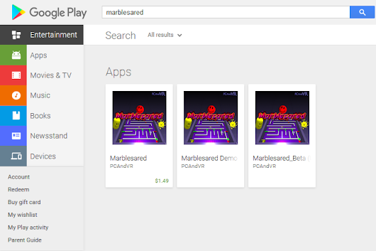 Marblesared on Google Play (finally)