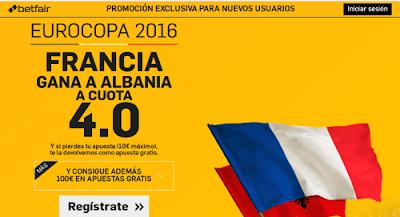 betfair Francia gana Albania supercuota 4 Eurocopa 2016 15 junio