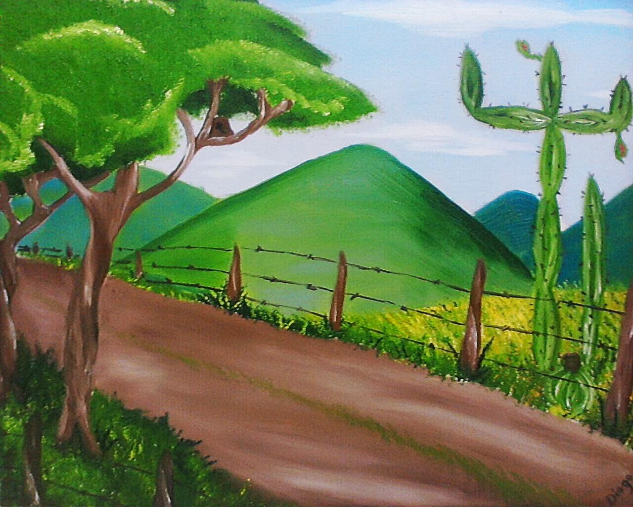 Diogo Cangussu Desenhos Pintura Em Tela Sertao Baiano