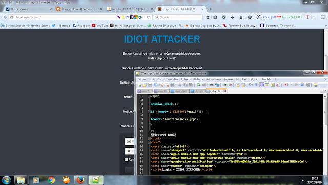 Tutorial cara mengilangkan Error Notice: Undefined index pada PHP