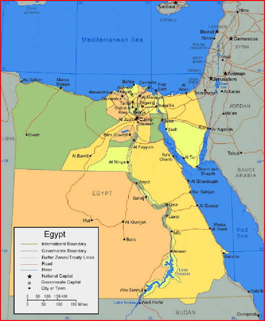 image: Map of Egypt