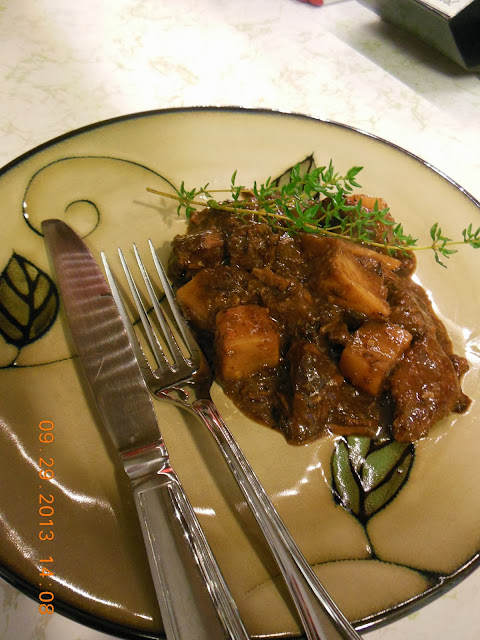Beef Stew with Red Wine, Prunes, and Celery Root. A zesty low carb stew made without potatoes.