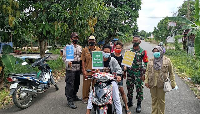 Terapkan Disiplin Prokes, Polsek Kahayan Kuala Gelar Operasi Yustisi