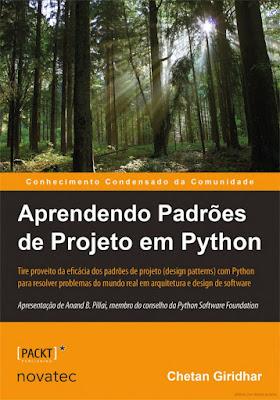 """Capa do Livro """"Aprendendo padrões de projeto em Python"""""""