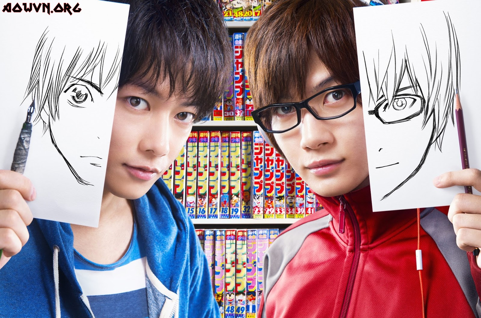 bakuman g1 - [ Live Action 3gp Mp4 ]  Bakuman 2015 | Vietsub