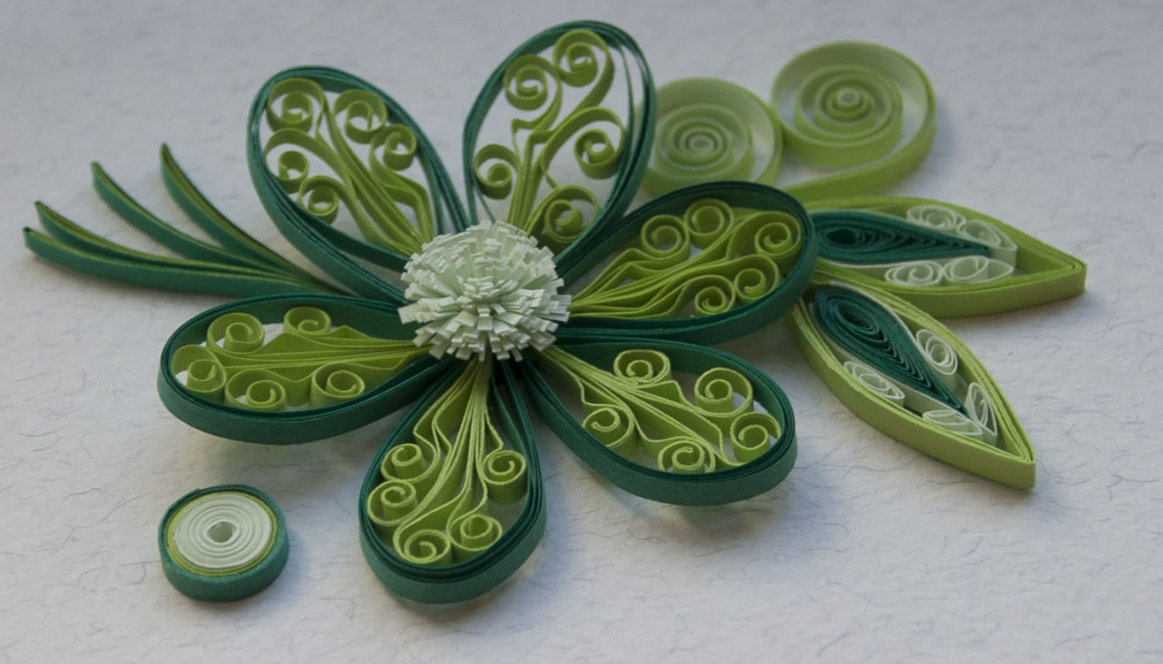 Neli quilling art quilling etudes with flowers for Quilling paper art