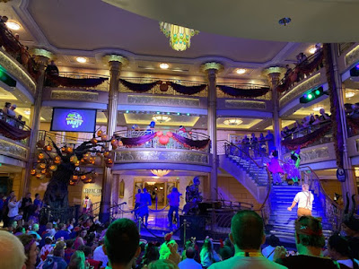 Disney Halloween show aboard the Disney Fantasy cruise ship