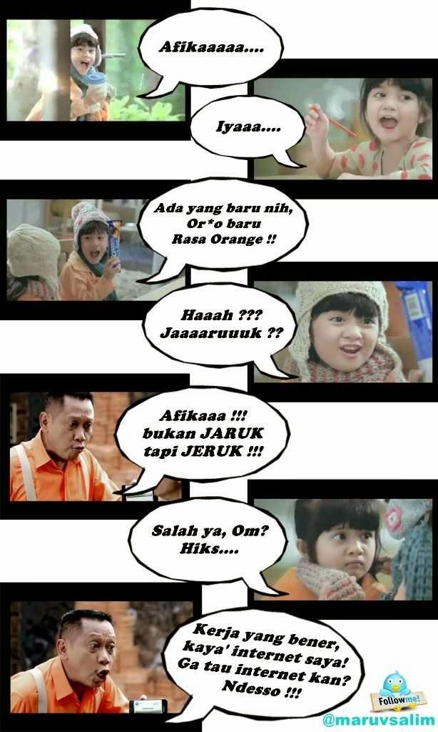 Meme Afika dengan Tukul Arwana