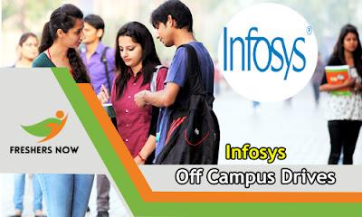 Infosys Off Campus Recruitment 2019