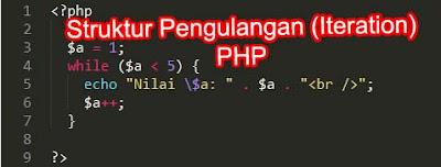struktur pengulangan (iteration) dalam php