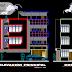 مخطط عمارة سكنية 3 طوابق للاماكن الضيقة اوتوكاد dwg