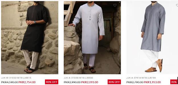J. Junaid Jamshed Men Kurta on sale