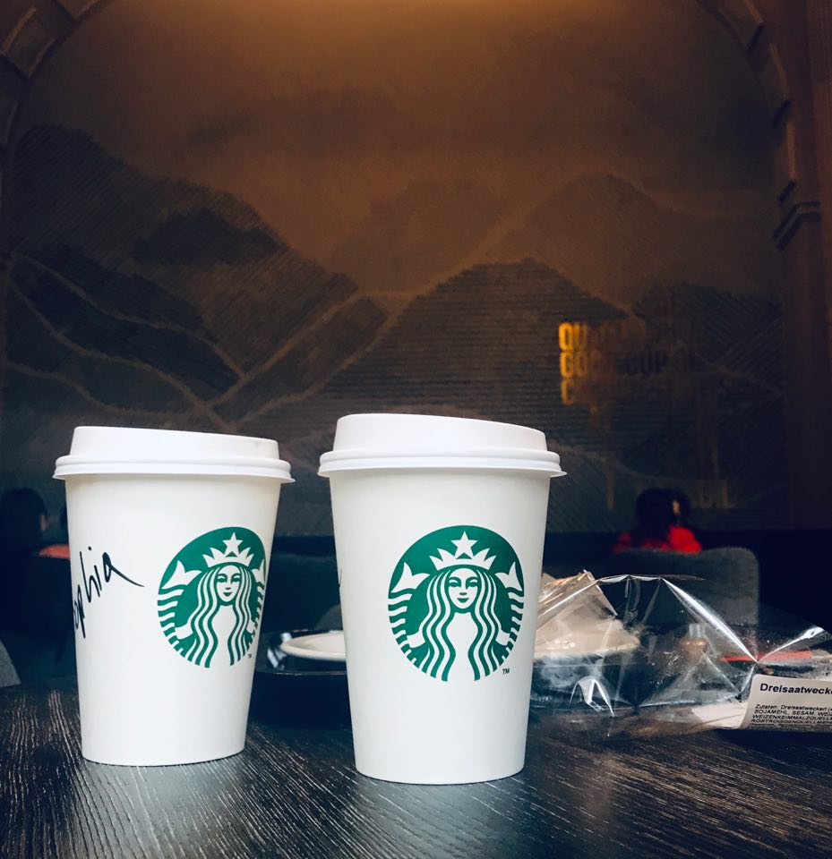 starbucks coffee cups, Financial Literacy and How To Travel Comfortably