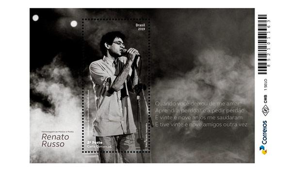 Filatelía│Lançado selo em homenagem a Renato Russo