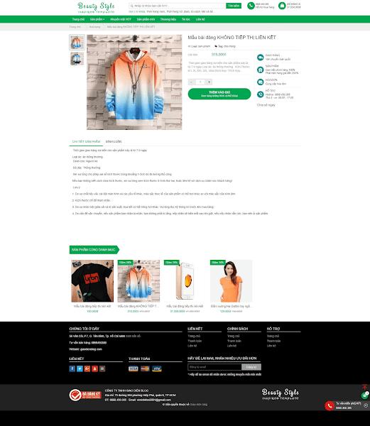 Giao diện Affiliate tiếp thị liên kết bằng blogger miễn phí