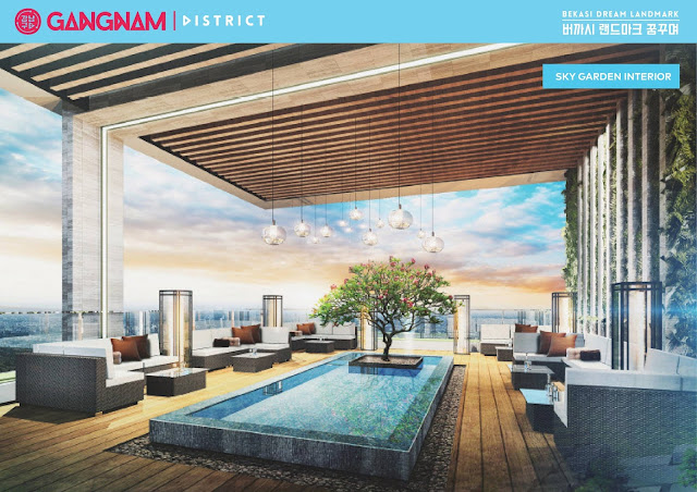 sky garden at gangnam district bekasi, sky lounge at gangnam district bekasi
