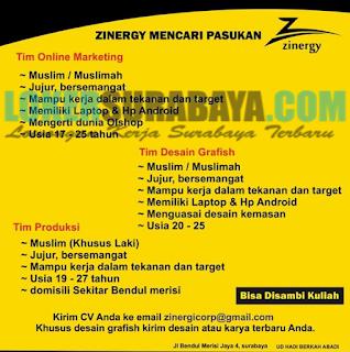 Lowongan Kerja Surabaya Terbaru di Zinergy Corp Juni 2019