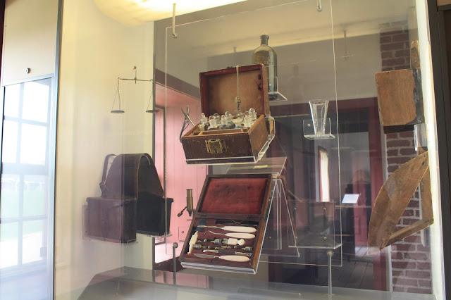 Frontier medical kits on display at Fort Snelling in St. Paul, Minnesota