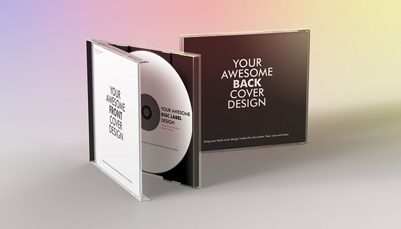 Realistic CD Case Mock-Up