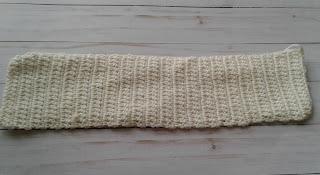 crochet worked flat