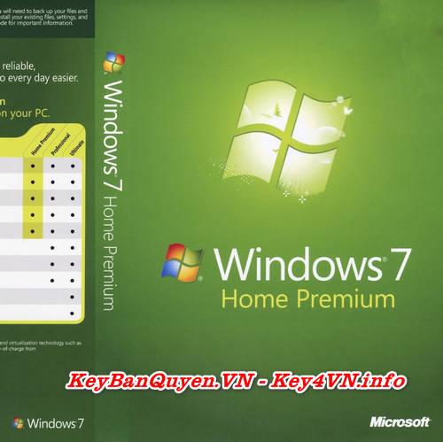 Mua bán key bản quyền Windows 7 Home Premium Full .
