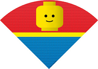 Conos= Cucuruchos para Imprimir Gratis de Fiesta de Lego.