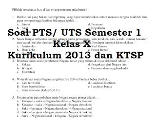 Download Soal UTS Semester 1 Kelas 10