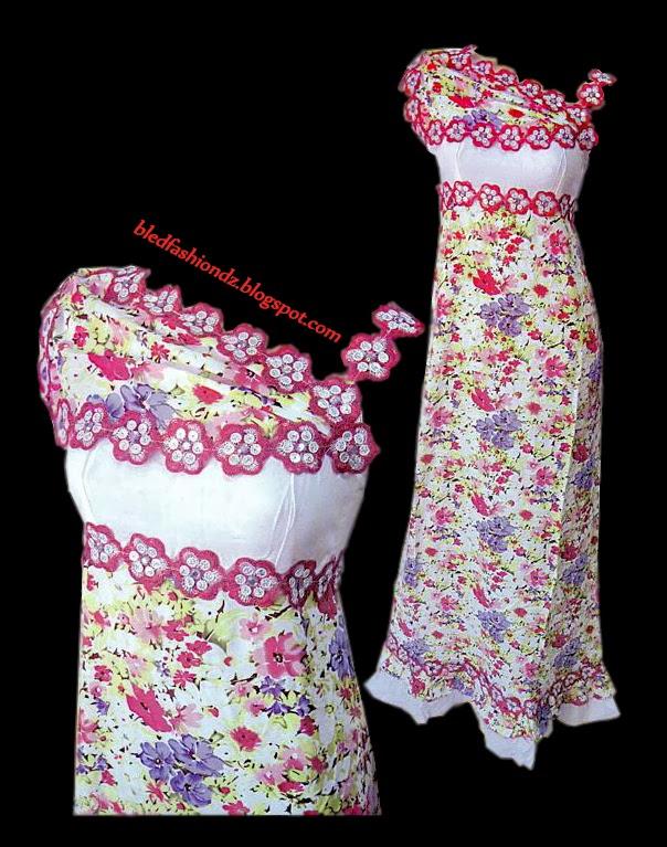 La Mode Algérienne Robe Interieure A Fleurs
