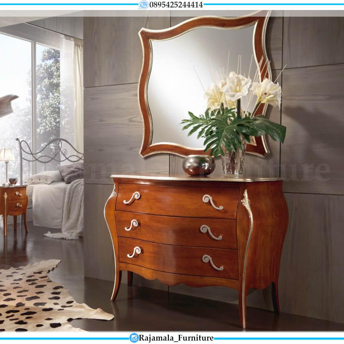 Meja Konsul Mewah Jati Natural Kombinasi Luxury Classic Design RM-0676