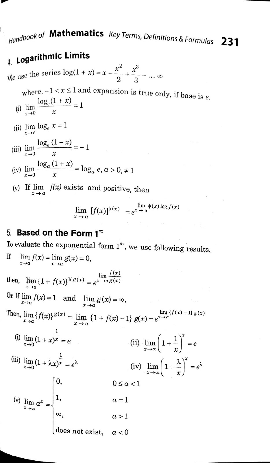 Continuity and Differentiability Class 12 formulas - Class 12 easy