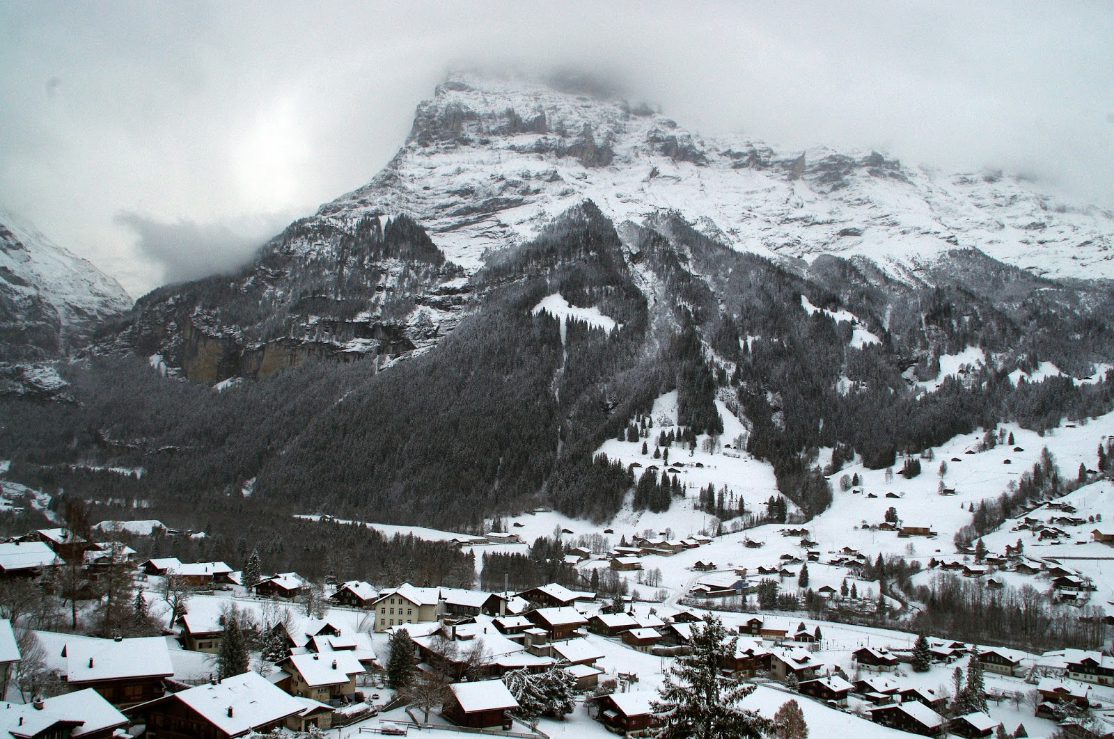 Hotel Belvedere Grindelwald View from Balcony