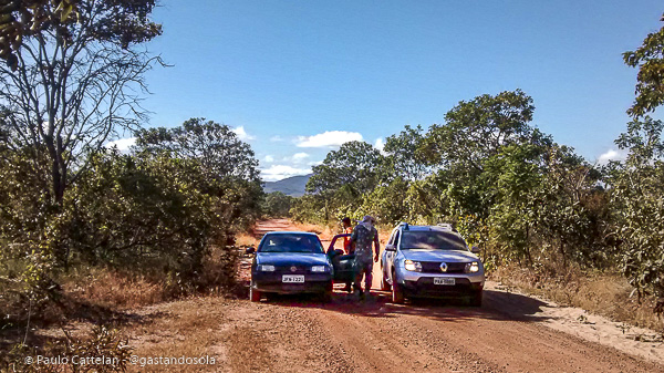 A estrada e os veículos que protagonizaram esse causo
