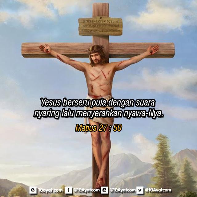 Matius 27 : 50