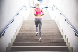 Running on stairs exercise for burning calories