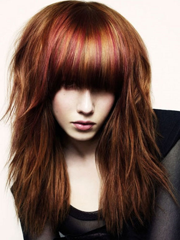 Layered Long Hairstyles with Bangs Ideas | Trends Hairstyles