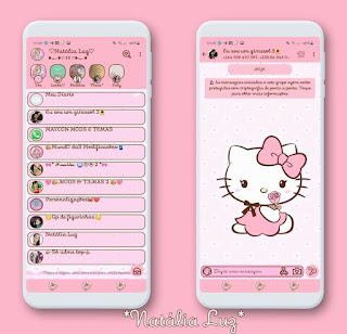 Hello Kitty Theme For YOWhatsApp & KM WhatsApp By Natalia