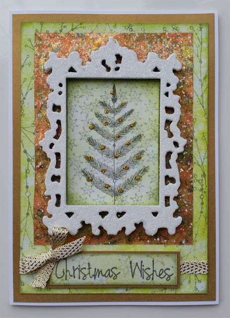 Glittery Card featuring PaperArtsy Eclectic stamps - EKC10 EKC11 - by Nikki Acton