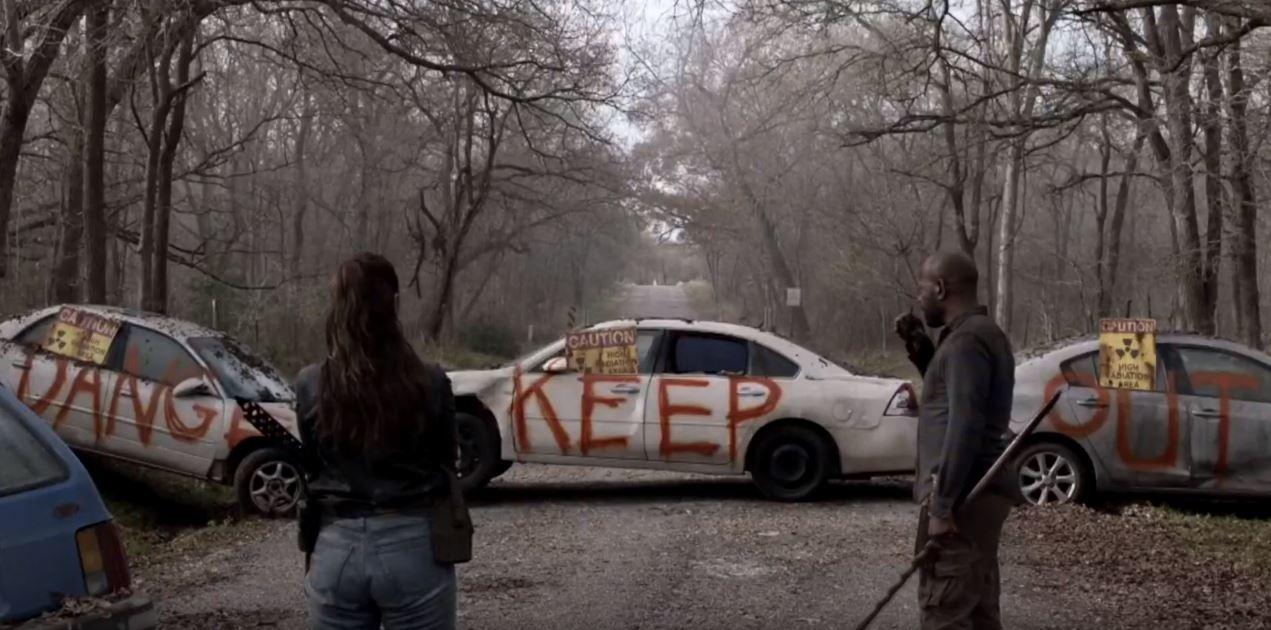 Morgan y Alicia, en el episodio 5x02 de The Hurt That Will Happen