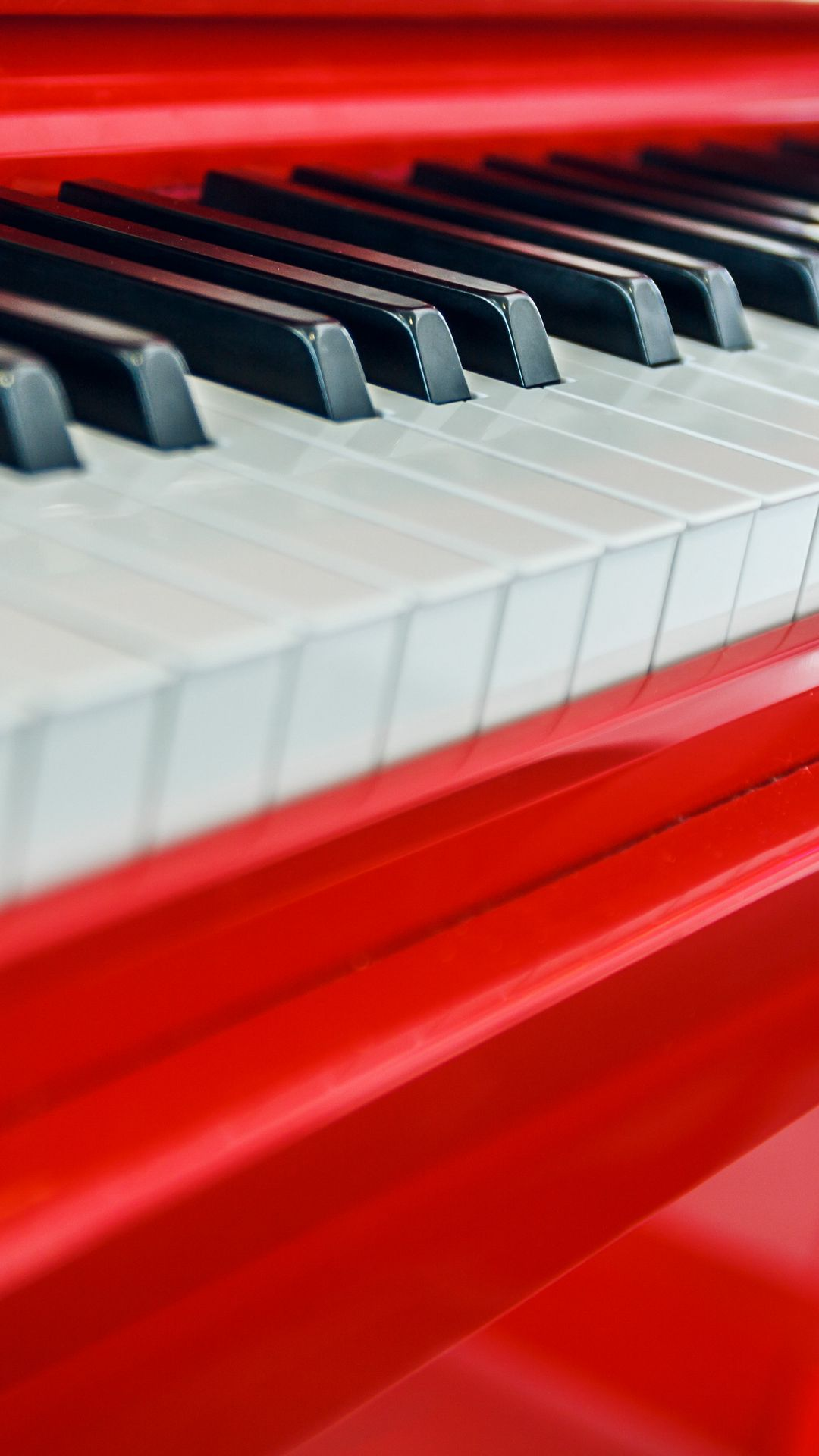 Red Piano Wallpaper