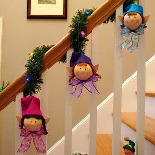 figuras-navideñas-en foami-para decorar-escaleras