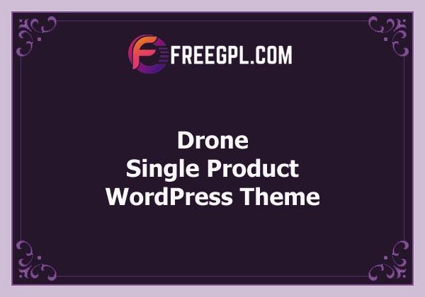Drone v1.26 – Single Product WordPress Theme Free Download