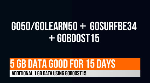 Globe Go50, GoLearn50 extend to 15 days, 5GB data