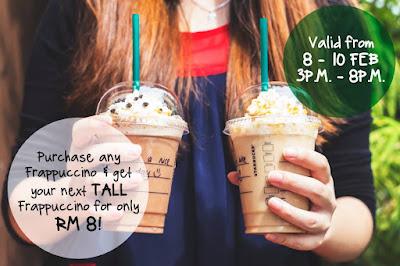 Starbucks Malaysia RM8 Tall Frappuccino
