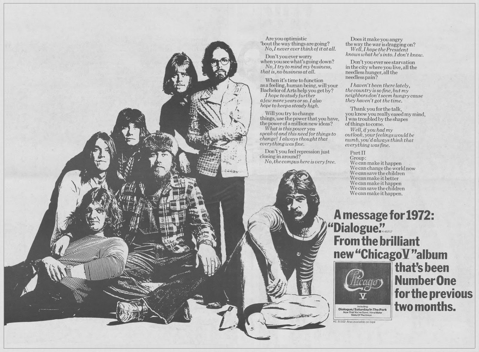 Chicago V Advertisement 1972