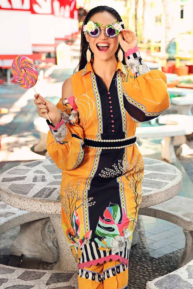 Gul Ahmed Yellow printed suit Yolo Summer collection