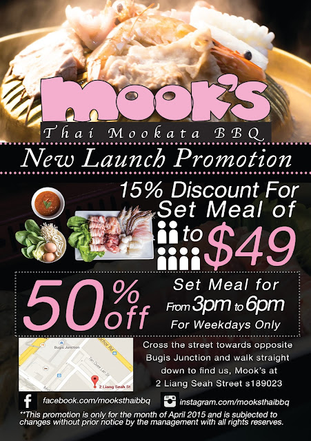 Flyer designed for Mook's to promote store opening for food